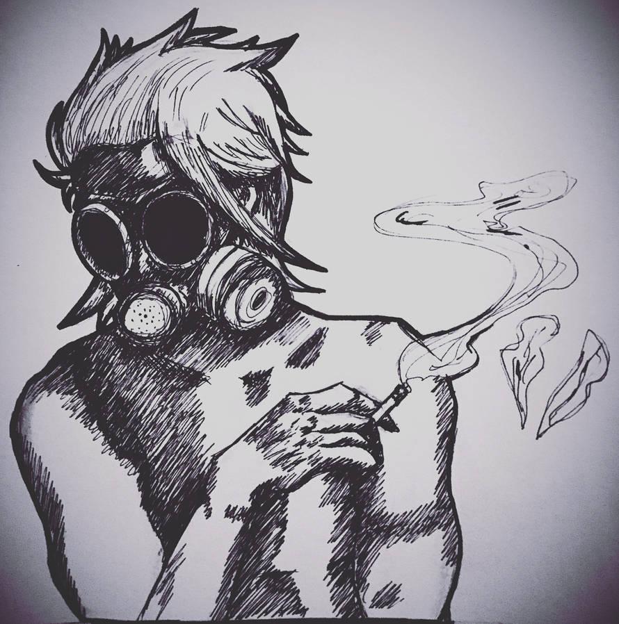 Gas Mask Smoke by ShadSal