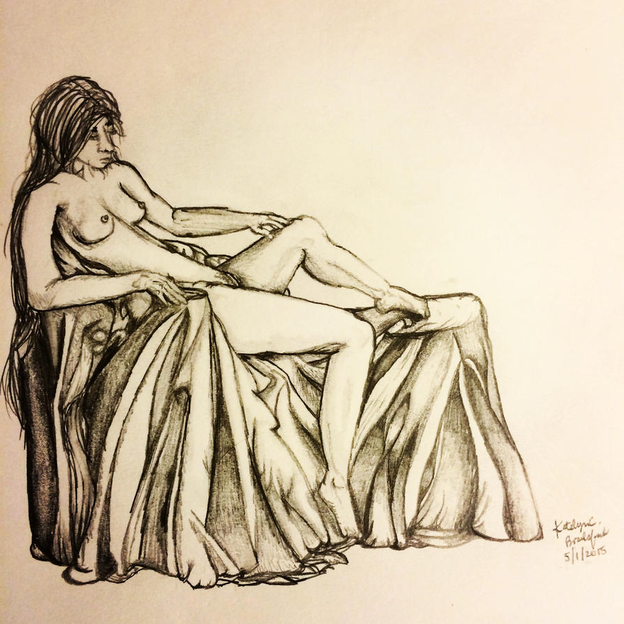 Female Anatomy Figure Drawing #1 by katiebrailsford
