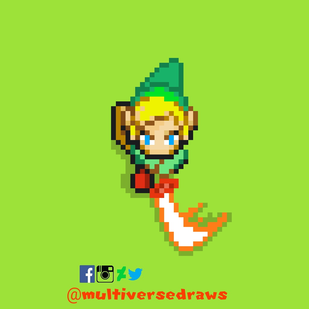 Link From Zelda Pixel Art By Multiversedraws On Deviantart