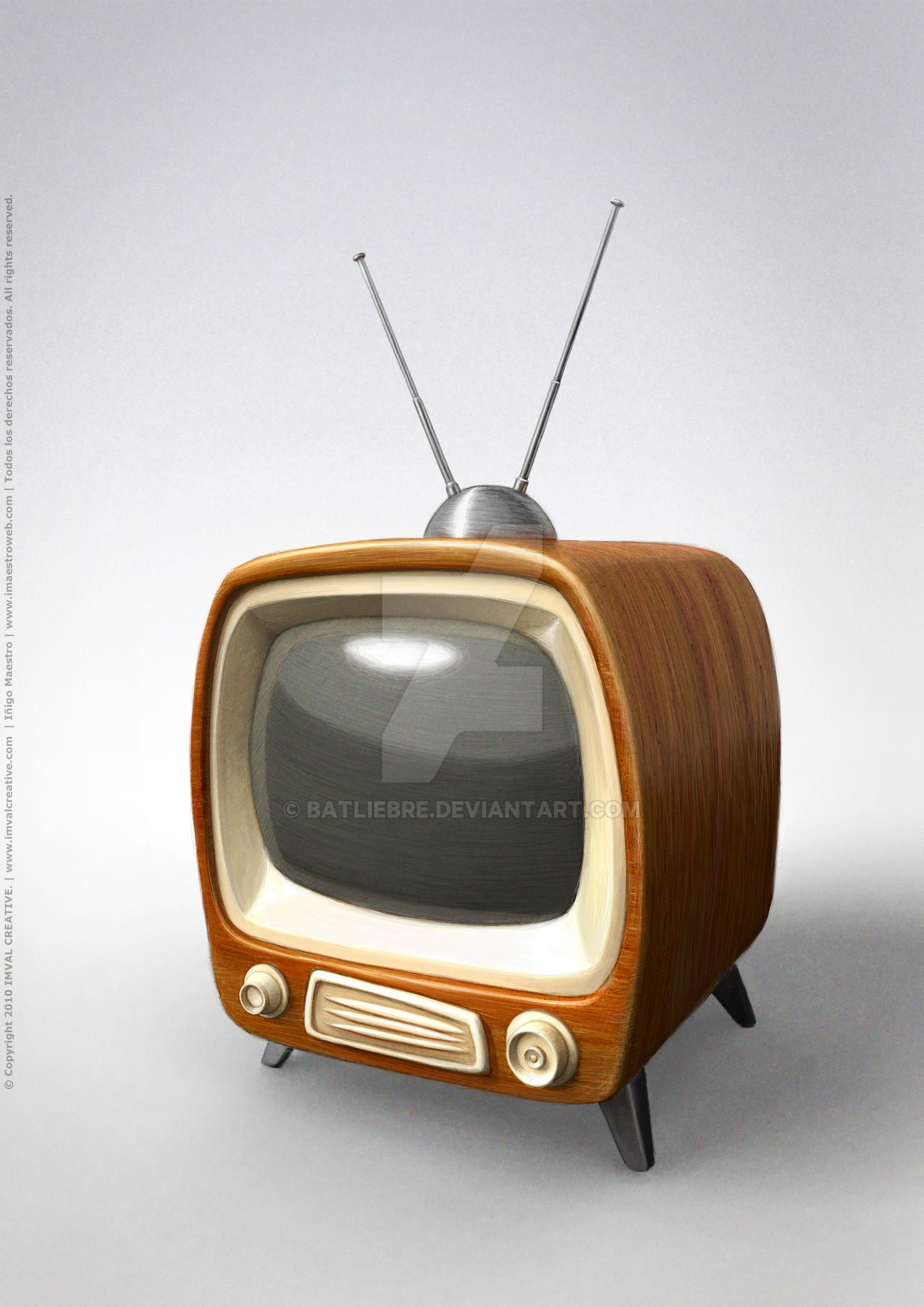 vintage tv concept 2010 by batliebre on deviantart. Black Bedroom Furniture Sets. Home Design Ideas