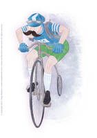 UR-Athloiak - Cyclist Character Concept (2012) by Batliebre
