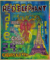 Bad Art Challenge: Red Elephant Cafe