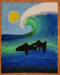 Dolphin Wave Painting