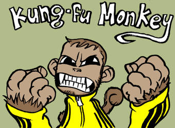 Kung Fu Monkey by bighatdino