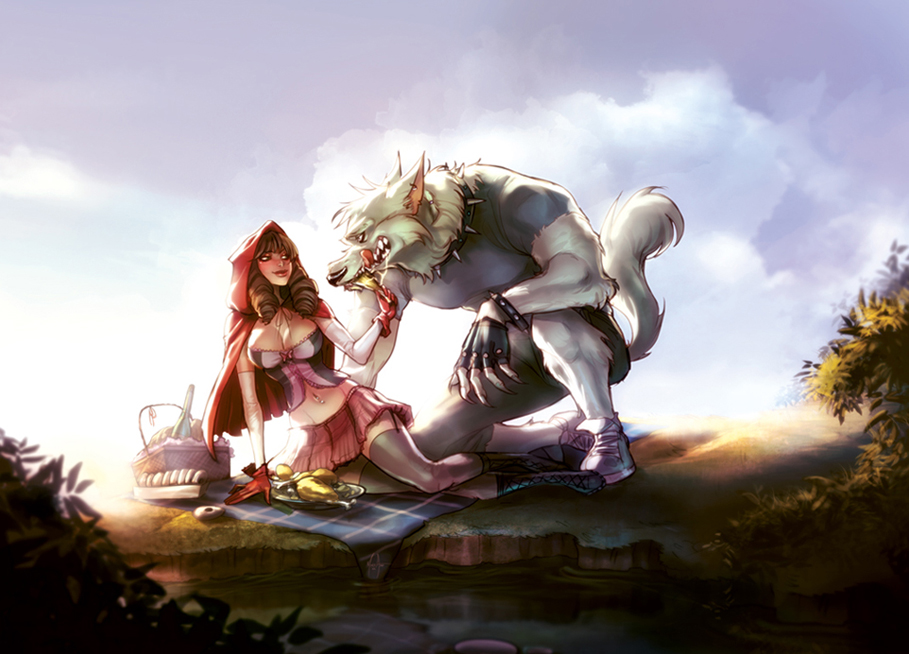 Pic nic with the wolf by MirkAnd89