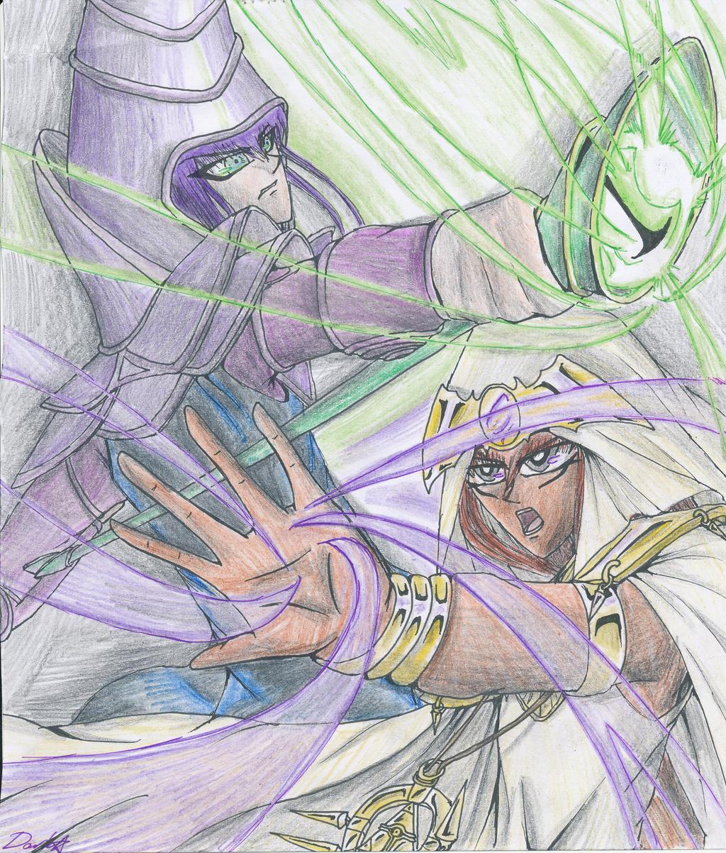 yu gi oh u0027s dark magician and mahado by kurosakiyuzu 11 on deviantart