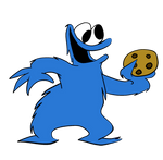 Cookie Monster and a Cookie
