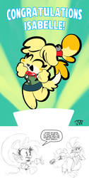 Congratulations Isabelle and Reasurance by JoeyWaggoner