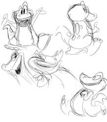 Barney Sketches-2 by JoeyWaggoner