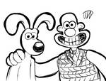 Wallace and Gromit Sketch