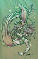Squid Mother by HeidiArnhold