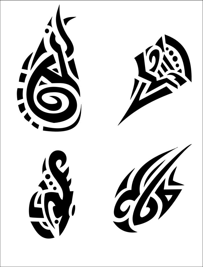 four small tribal designs by aquadeus
