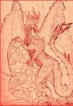 Drago rosso - Cobra D'avorio by PencilframeArt