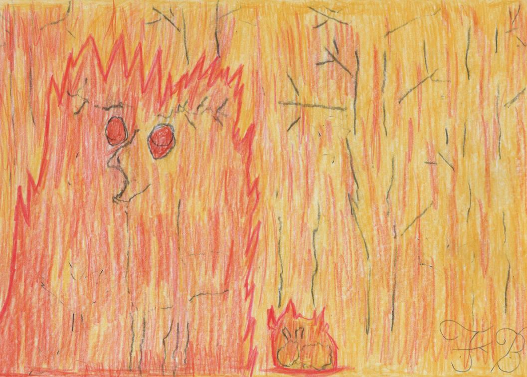 31 days of art, theme 31 Burnt future