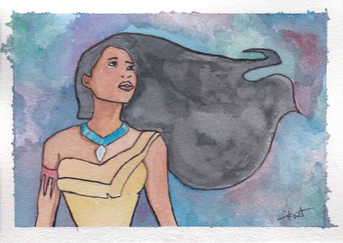Pocahontas Watercolour