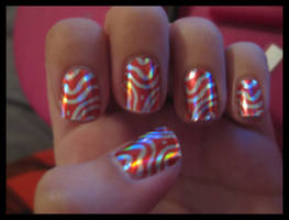 zebra nail foils by xstdx