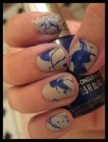 blue splatter by xstdx