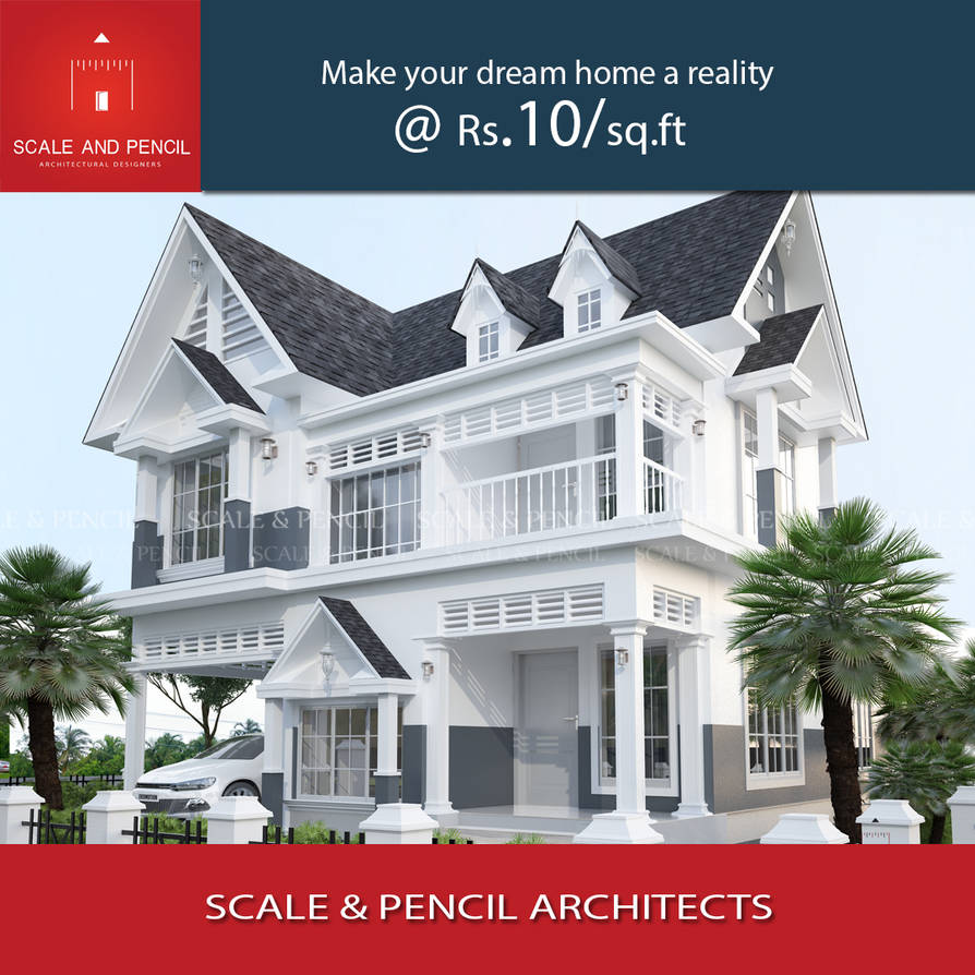 Colonial Home Design Ideas: Attractive Colonial House Designs By ScaleandPencil On