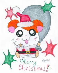 Merry Hamtaro Christmas by SparkleC