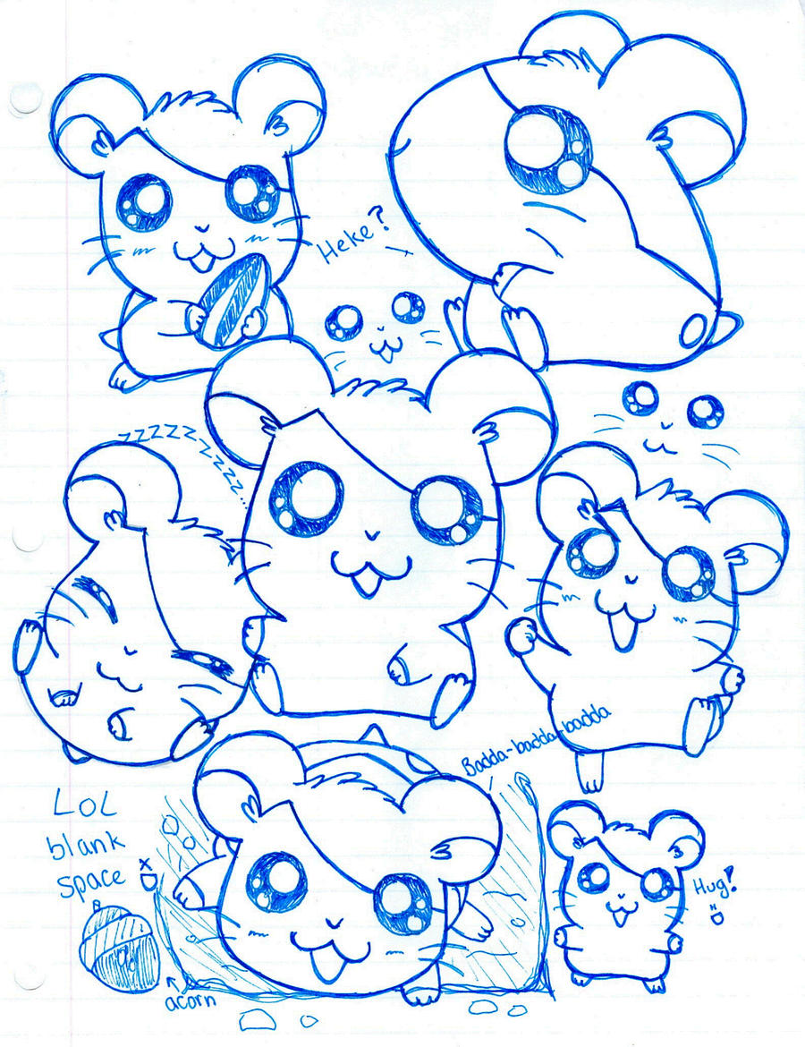 Cute Doodles To Draw For Your Girlfriend Hamtaro Doodles by SparkleC