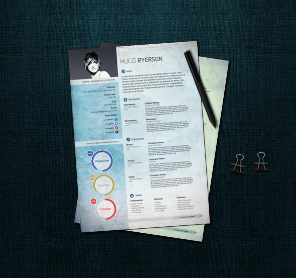 Modern CV/Resume PSD by MaxieLindo