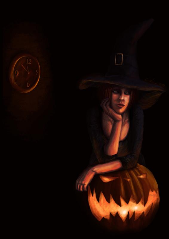 Waiting Halloween by dragonero