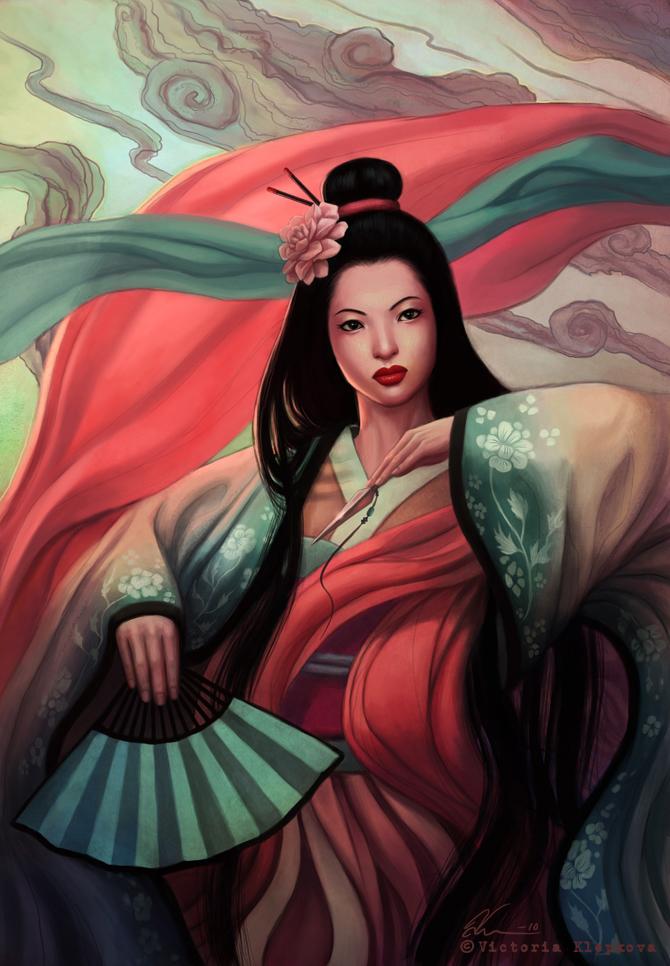 Birthday Geisha by Viccolatte