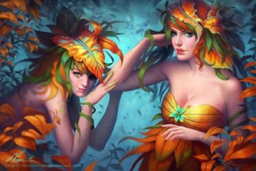 Nymphs - Lyth and Yana by Viccolatte