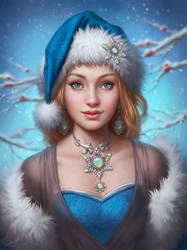 Christmas Lady - Beautiful Antique Jewelry