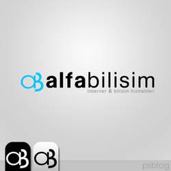 Alfa bilisim Logo design by orhansarica