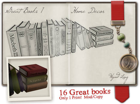 Great books model + texture + my personal ad style