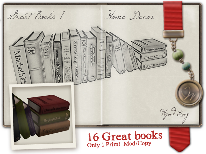 Great books model + texture + my personal ad style by Wyndaveres