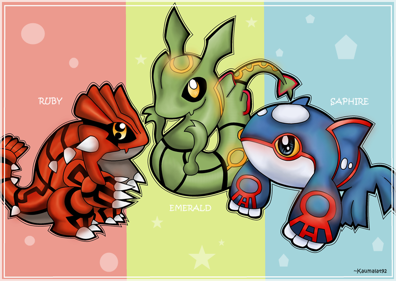 Chibi kyogre groudon rayquaza by km92 on deviantart - Pictures of groudon and kyogre ...