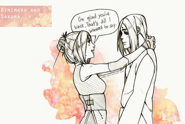 Kimimaro and Sakura by Km92