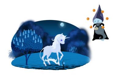 Okame Tabsheets: Last Unicorn Illu by RavenFeatherAngel