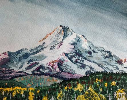Mt Hood Watercolor