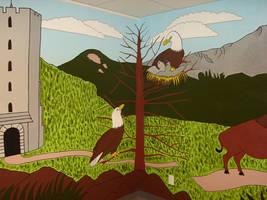 Mural: Eagles by Moundfreek