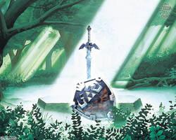 Zelda 25 anos - Sword and Shield by AleNintendo