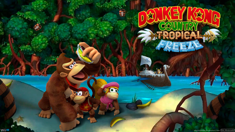 Wiiu Com Game : Donkey kong country tropical freeze wide by alenintendo
