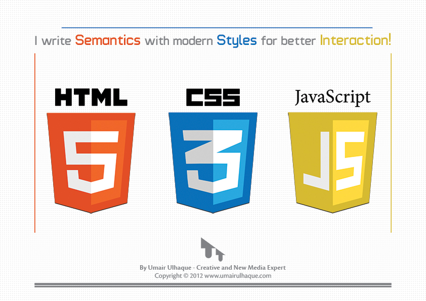 Html5 Css3 Javascript Poster By Umairulhaque On Deviantart
