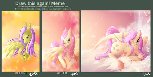 Draw This Again and Again: Fluttershy by Neko-luvz