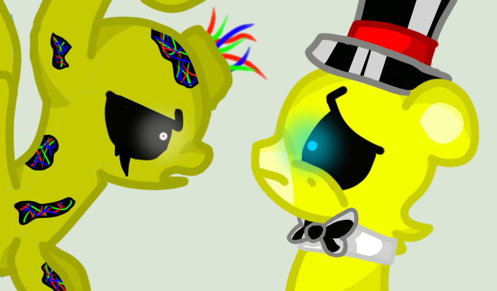 Springtrap and golden freddy ponified by ihasburgers on deviantart