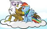 Gilda y Rainbow Dash