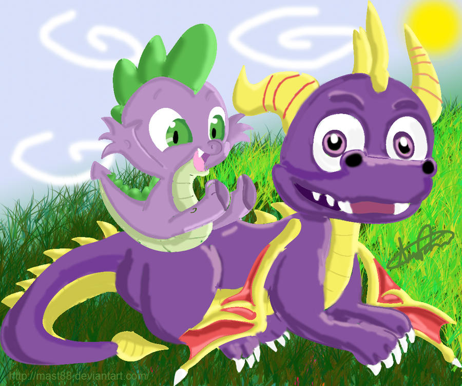Spyro and Spike by Mast88