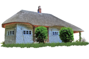 Fairytale Thatched Cottage PNG.. by AledJonesDigitalArt