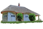 Fairytale Thatched Cottage PNG..