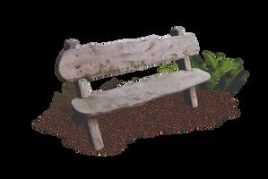 Wooden Bench PNG.. by AledJonesDigitalArt