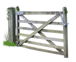 Wooden Farm Gate PNG..