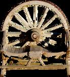 Wagon Wheel Bench PNG.