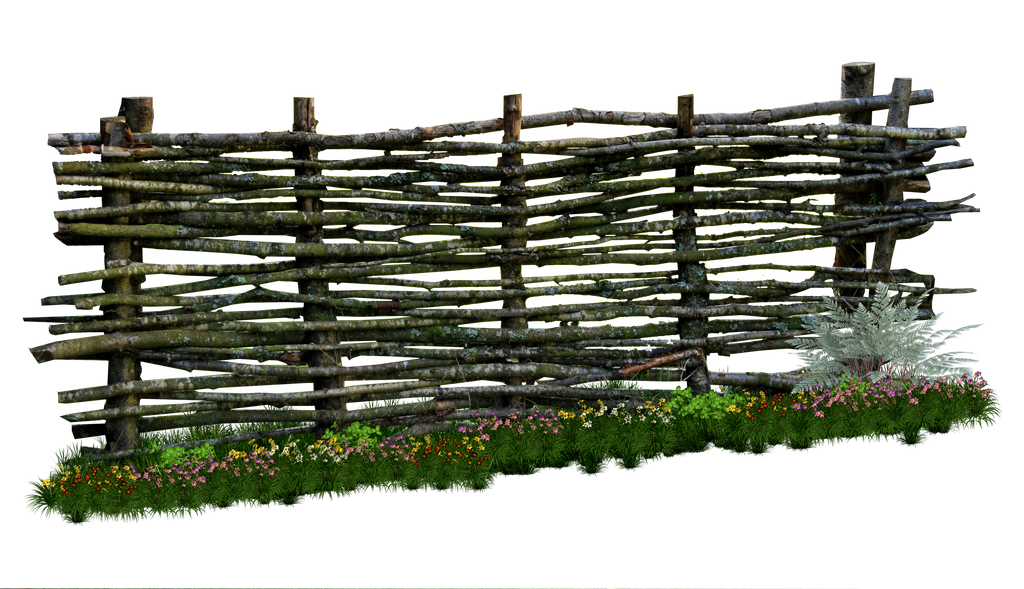 Weaved Wooden Fence PNG.. by WelshDragonStockNArt